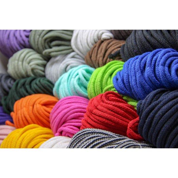 6mm | 50m Kordel | 100% Baumwolle | mit Polyester Kern