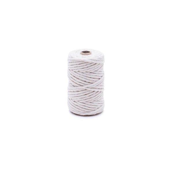 1,6mm | 30m Baumwollseil | 100 % Baumwolle Tauwerk | gedrehte Baumwollkordel