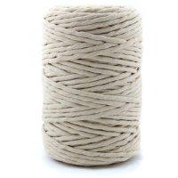 100m Makramee Garn | 100% Baumwolle | 5mm Single Twist |...