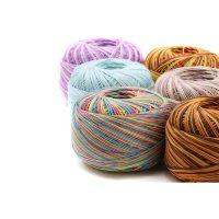 1 Knäuel Häkelgarn | 100% Baumwolle | Multicolor
