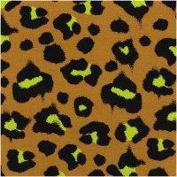 Rico Design | Stoffabschnitt | Canvas | Acid Leo Karamell...