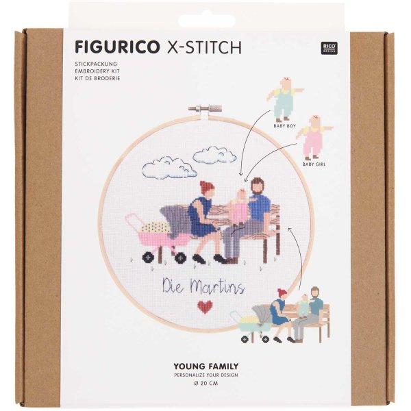 Rico Design   Stickpackung   Figurico   Young Family Ø 20 cm