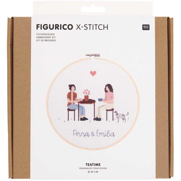 Rico Design   Stickpackung   Figurico   Teatime Ø 20 cm