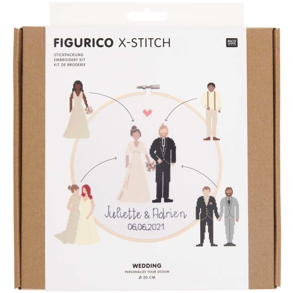 Rico Design   Stickpackung   Figurico   Wedding Ø 20 cm