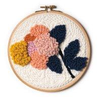 Rico Design   Punch Needle Packung   Bild Blume Inkl....