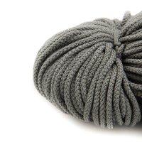 3mm   100m Kordel   100% Polyester   ohne Kern   Grau