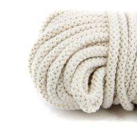 8mm   50m Kordel   100% Baumwolle   mit Polyester Kern  ...