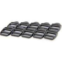 10 Klemm-Leiterschnallen | Kunststoff Gurtschnalle | 20...