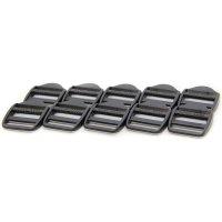 10 Klemm-Leiterschnallen | Kunststoff Gurtschnalle | 25...