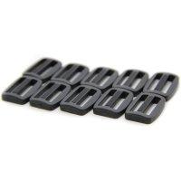 10 Leiterschnallen | Kunststoff Stegschnalle | 20 mm...