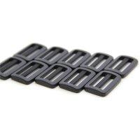 10 Leiterschnallen | Kunststoff Stegschnalle | 25 mm...