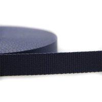 25m Gurtband   100% Polypropylen   Dunkelblau 25 mm