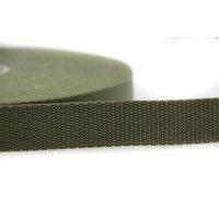 25m Gurtband | 100% Polypropylen | Khaki 25 mm
